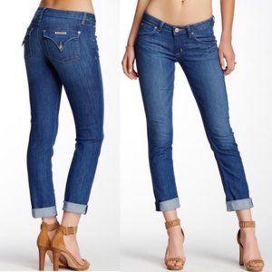 HUDSON Bacara Crop Straight Cuffed Jeans
